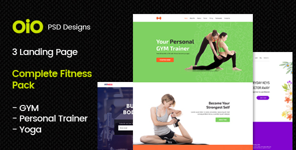 Complete Fitness Pack – GYM, Yoga & Personal Trainer - Creative PSD Templates TFx Langdon Sahak