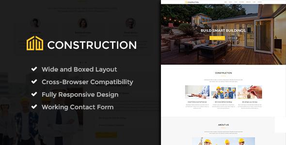 Construction - Business & Building Company WordPress Theme - Business Corporate TFx Nickolas Lonny