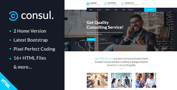 Consul - Business Consulting and Professional Services HTML Template - Business Corporate TFx Edric Keghart