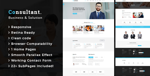 Consultant - Business Consulting and Professional Services HTML Template - Business Corporate TFx Roderick Gregg