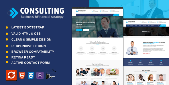 Consulting - Business & Consulting HTML Template - Business Corporate TFx Elmo Keaton