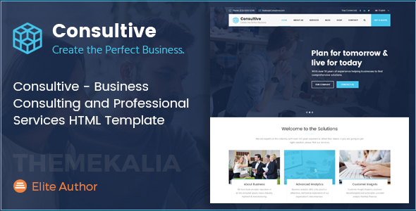 Consultive – Business Consulting and Professional Services HTML Template – Business Corporate TFx Dwayne Rian