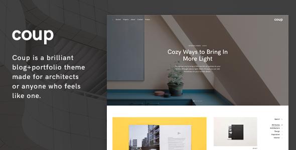 Coup - Portfolio WordPress Theme - Portfolio Creative TFx Darryl Hasan