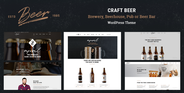 Craft Beer – Brewery, Beerhouse, Pub or Beer Bar WordPress Theme – Restaurants & Cafes Entertainment TFx Barney Jayce