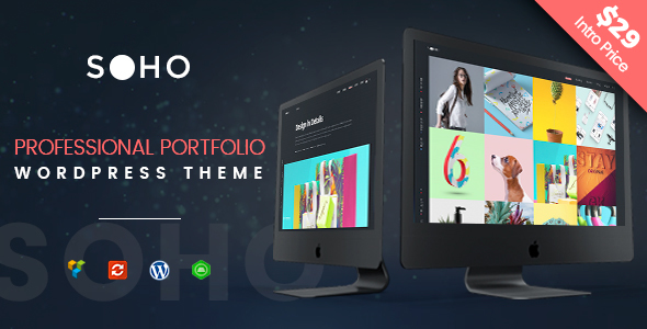 Creative Portfolio WordPress Theme - SOHO Pro - Portfolio Creative TFx Wibowo Silver