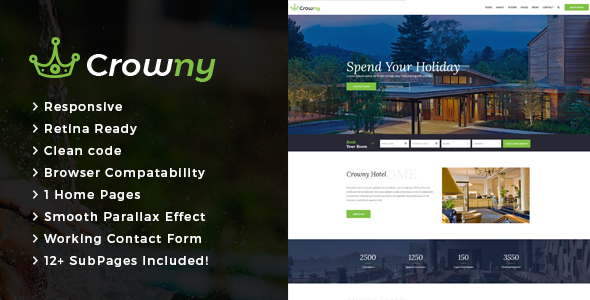 Crowny : Resort and Hotel HTML Template - Travel Retail TFx Eddie Sefton