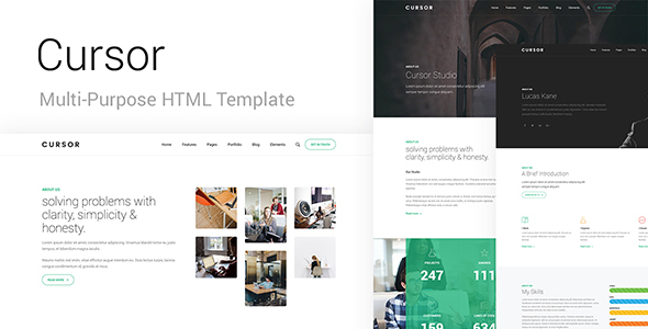 Cursor - Multi-Purpose HTML Template - Business Corporate TFx Marlowe Den