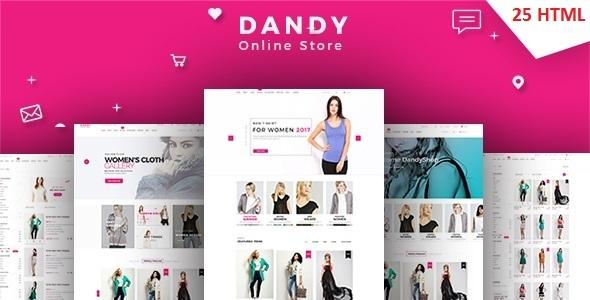 DANDY - Multi-Purpose eCommerce HTML Template - Shopping Retail TFx Leroy Palmer