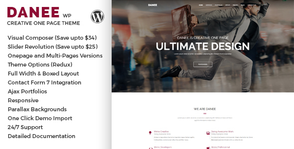 DANEE - Onepage WordPress Theme TFx WordPress Fran Vardan