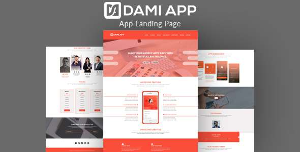 DamiApp - Landing HTML App Template - Software Technology TFx Made Ronny