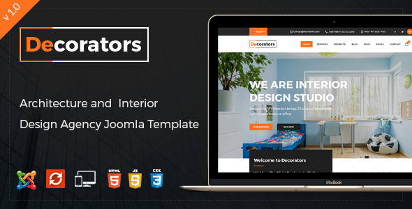 Decorators - Joomla Template for Architecture & Modern Interior Design Studio - Business Corporate TFx Aaren Brenden