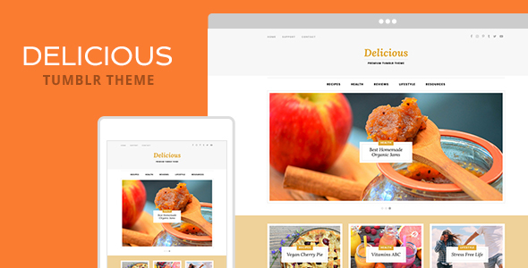 Delicious Tumblr Theme TFx Blogging Malakai Saburo