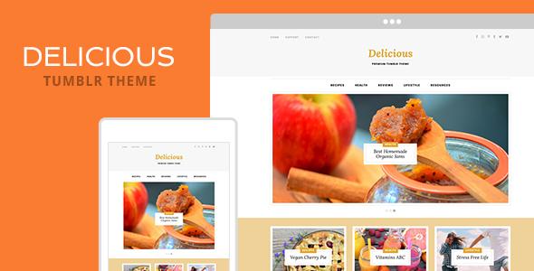 Delicious Tumblr Theme TFx Blogging Malakai Saburo