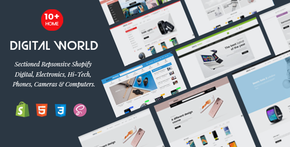 Digital World - Sectioned Responsive Shopify Theme for Digital, Electronics & Hi-Tech Store - Technology Shopify TFx Willard Zechariah