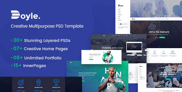 Doyle – Creative Multipurpose PSD Template – Creative PSD Templates TFx Garey Colten