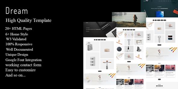Dream - Multipurpose Portfolio Template - Creative Site Templates TFx Erle Beauregard