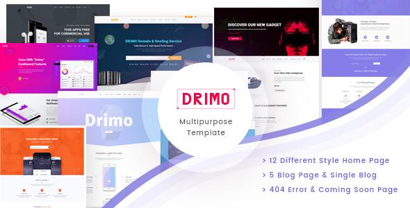 Drimo- Apps,Saas, Hostings, Repairing & Product Landing Page - PSD Templates  TFx Austyn Derick
