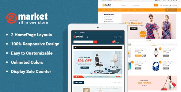 E-market - Stunning and Responsive Magento 2.1 Theme - Magento eCommerce TFx Buddha Maddox