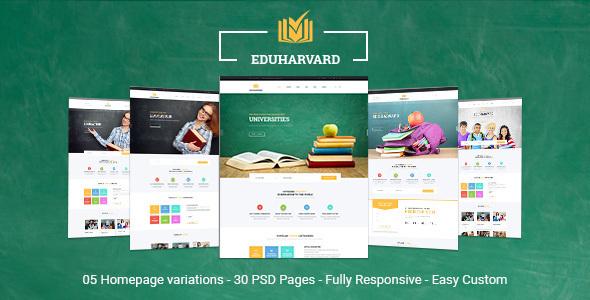 Eduharvard - Multi-Concept Education & Courses HTML Template - Business Corporate TFx Ryouichi Christmas
