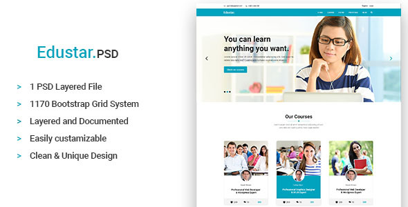 Edustar - Education PSD Template - Miscellaneous PSD Templates TFx Braidy Wat