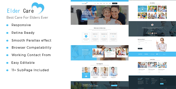Elder Care - Senior Security HTML Template - Health & Beauty Retail TFx Hiroshi Lilian