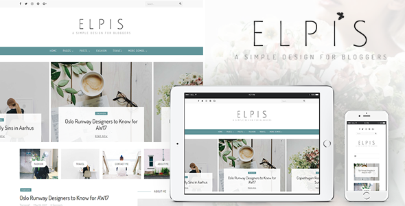 Elpis - A Simple Design For Bloggers - Personal Blog / Magazine TFx Ryoichi Daly