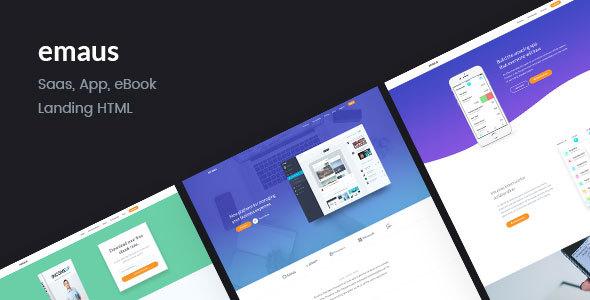 Emaus | SaaS, WebApp, Ebook Responsive Landing Page HTML - Software Technology TFx Rokurou Biza