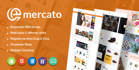 Emercato Creative Magento Theme – Fast Load & Large Store Design – Magento eCommerce TFx Marvyn Flannery