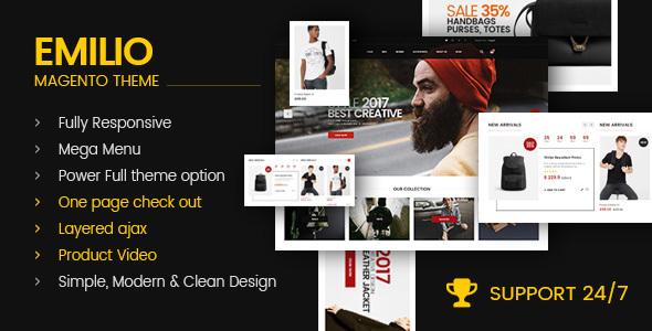 Emilio - Multi-Purpose Premium Responsive Magento 2 Theme - Shopping Magento TFx Ohannes Bradford