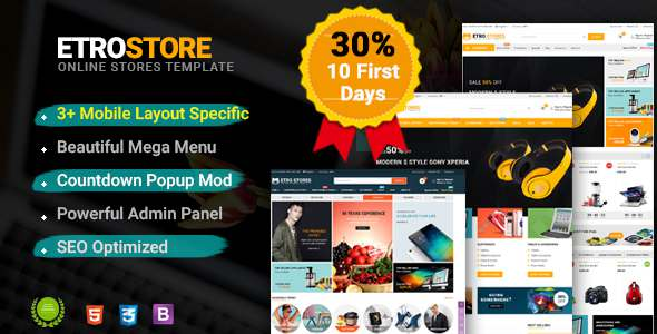 EtroStore – Premium Multipurpose Digital OpenCart 2.3 Theme – OpenCart eCommerce TFx Coleman Nolan