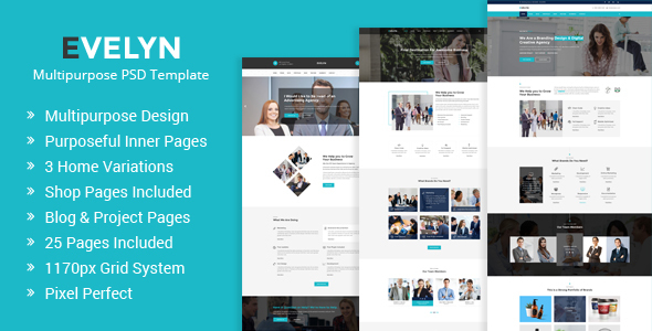 Evelyn | Multipurpose Business and Agency PSD Template TFx Roddy Winston
