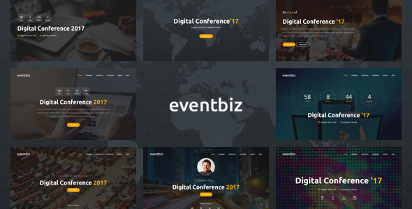 Eventbiz – Event and Conference Website Template – Events Entertainment TFx Gabby Ralph