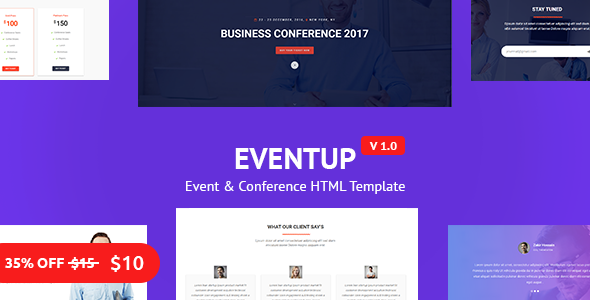 Eventup - Business and Conference Template - 2017 - Corporate Site Templates TFx Alexis Kerry