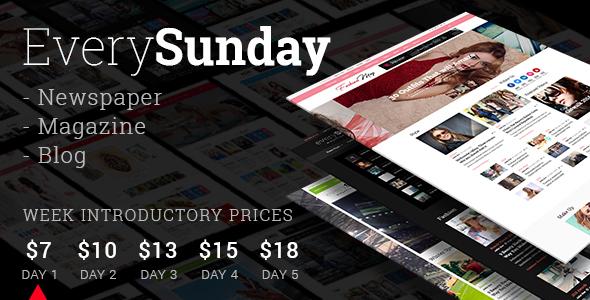 Every Sunday - Newspaper, Magazine & Blog Theme TFx Quin Jesse