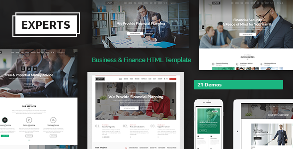 Experts - Multipurpose Business & Finance HTML5 Template - Business Corporate TFx Jimmy Barry