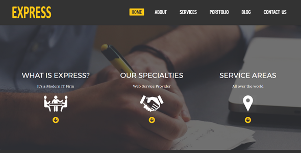 Express – Responsive HTML5 Corporate Business Template – Business Corporate TFx Wil Rhett