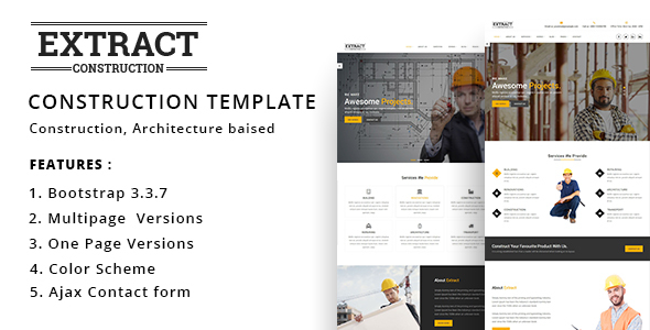 Extract – Construction and Business Template – Business Corporate TFx Narek Max