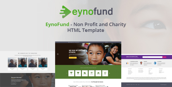 EynoFund – Nonprofit and Charity HTML Template – Charity Nonprofit TFx Ralphie Rex