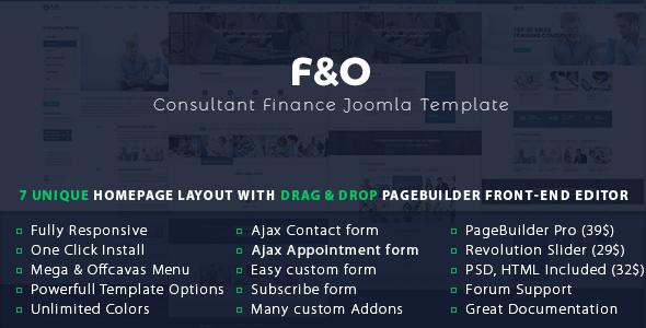 F&O | Consultant Finance Joomla Template - Joomla CMS Themes TFx Israel Dayton