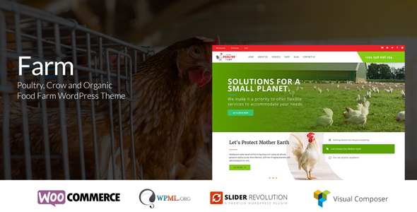 Farm - Poultry & Crow Farm WordPress Theme - Food Retail TFx Buster Judd