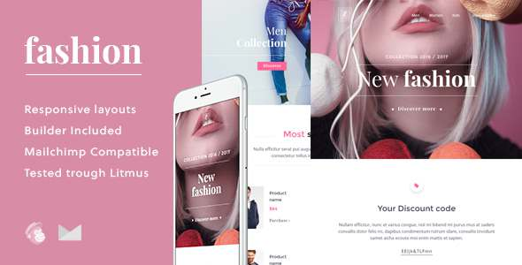 Fashion - Ecommerce Email Template + Builder - Email Templates Marketing TFx Bartholomew Kelsey