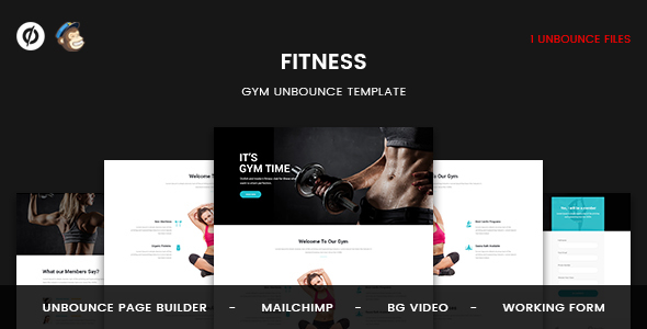 Fitness - GYM Unbounce Template - Unbounce Landing Pages Marketing TFx Grover Larry