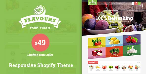 Flavours - Organic Responsive Shopify Theme - Shopping Shopify TFx Yuuto Murphy
