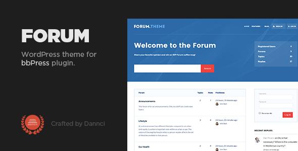 Forum - A responsive theme for bbPress plugin - Miscellaneous WordPress TFx Jeremiah Charley