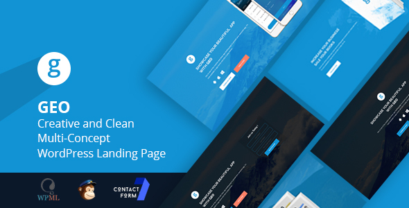 GEO - Creative and Clean Multi-Concept WordPress Landing Page Theme TFx Douglas Leslie