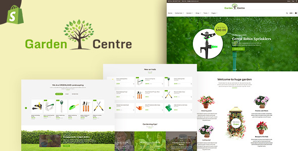 Garden Centre | A shop for gardening / nursery equipments – Shopify Theme – Shopify eCommerce TFx Dawson Irwin