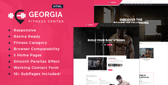 Georgia | Sports, Health, Gym & Fitness HTML Template - Health & Beauty Retail TFx Leslie Pete