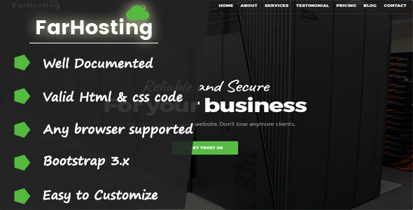 GoHosting - Responsive Coming Soon Template - Hosting Technology TFx Landon Jemmy