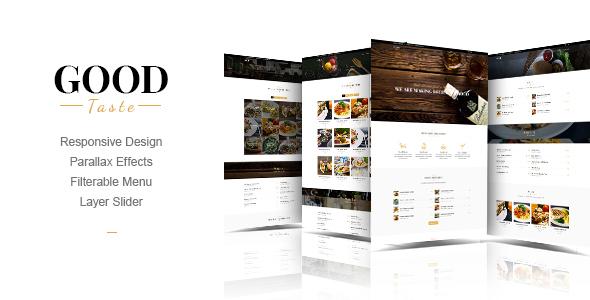 GoodTaste | Creative Restaurant Template - Food Retail TFx Esmond Archie