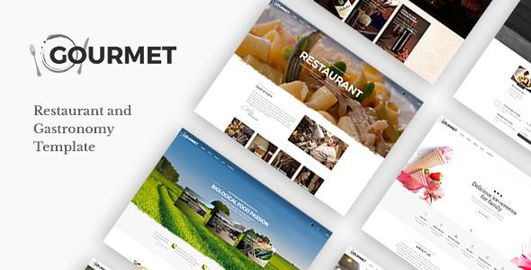 Gourmet - Restaurant & Gastronomy Template - Restaurants & Cafes Entertainment TFx Elijah Takashi
